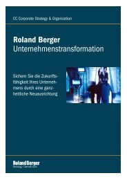 Unternehmenstransformation Roland Berger