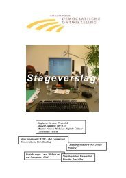 Stageverslag - New Media & Digital Culture