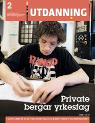 Utdanning nummer 02 2010 - Utdanningsnytt.no