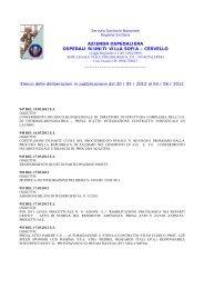 elenco 947 1003 - Azienda Ospedaliera Ospedali Riuniti Villa Sofia