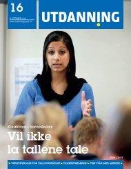 Utdanning nummer 16 2010 - Utdanningsnytt.no