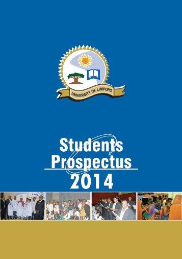 Download 2014 Prospectus - University of Limpopo