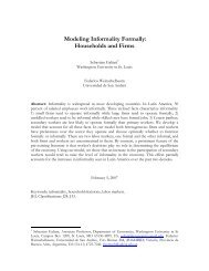 Modeling Informality Formally: Households and Firms - Economics