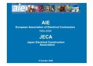 European Association of Electrical Contractors - AIE