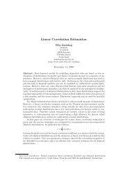Linear Correlation Estimation