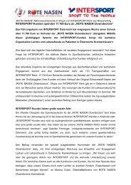 ROTE NASEN Clowndoctors - INTERSPORT Österreich