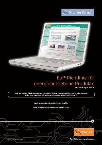 EuP-Richtlinie für energiebetriebene Produkte - Farnell
