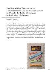 Von Nimrod über Tobler-o-rum zu Toblerone Pralinés. Ein Einblick ...