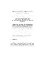Implementation of a Face Recognition System for Interactive TV ...