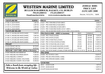 Zodiac 2008 Pricelist update.pub - Western Marine