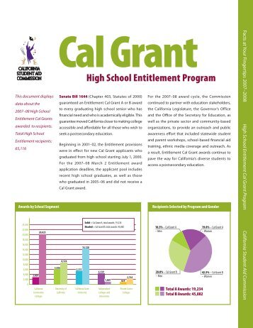 High School Entitlement Cal Grant Program - CSAC California ...