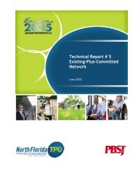 Technical Report # 5 Existing-Plus-Committed ... - North Florida TPO