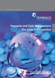Payments and Cash Management: The Asian FI ... - The Asian Banker