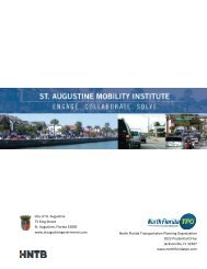 St. Augustine Mobility Institute Final Report - North Florida TPO
