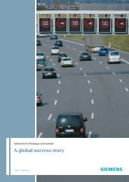 Solutions for Freeways and Tunnels - Siemens Mobility