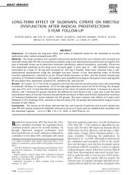 Long-term effect of sildenafil citrate on erectile... - Cleveland Clinic