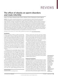 The effect of obesity on sperm disorders and male infertility