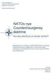 NATOs nye Counterinsurgensy doktrine - Forsvarsakademiet