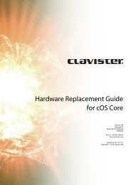 Hardware Replacement Guide for cOS Core - Clavister
