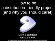 and why you should care! - Gentoo