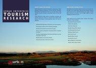 Tourism Research - Urban Enterprise