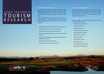 Tourism Research - Urban Enterprise