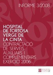 Informe 03/2008 - Generalitat de Catalunya