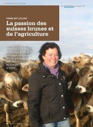 La passion des suisses brunes et de l'agriculture - Fédération des ...