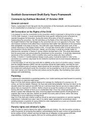 Scottish Government Draft Early Years Framework - Scotland's ...