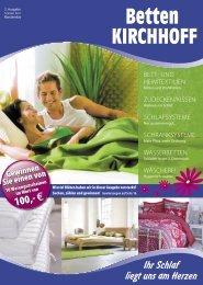 Beilage Sommer 2011 - Betten KIRCHHOFF