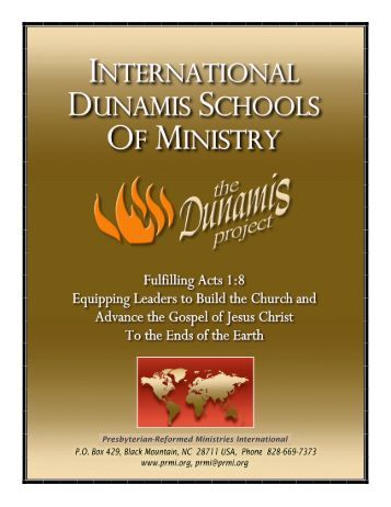 International Dunamis Schools Of Ministry - Presbyterian-Reformed ...