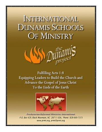 International Dunamis Schools Of Ministry - Presbyterian-Reformed ...