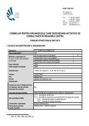 SC Carpyus Consulting SRL Tulcea - ADR Centru