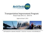TIP FY 2011/12 - 2015/16 - North Florida TPO