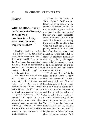 White China - Touchstone Journal