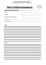 Mein Praktikumstagebuch - Nicolaus-August-Otto-Schule