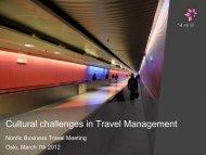 Cultural challenges in Travel Management - DBTA