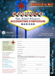 Registration Form - Wisconsin Institute of Certified Public Accountants