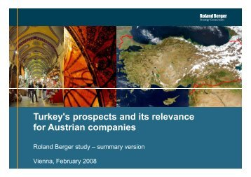Turkey's prospects and its relevance for Austrian companies