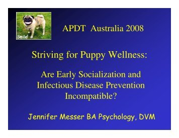 Striving for Puppy Wellness: - Pavski