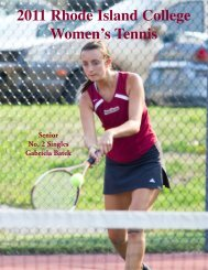 The 2011 Rhode Island College Women's Tennis Team