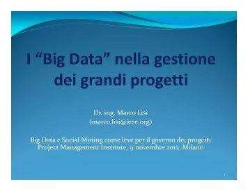Big Data e Social Mining come leve per il governo dei ... - PMI-NIC