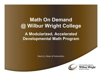Math On Demand @ Wilbur Wright College - College Changes ...