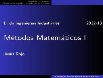 métodos de Runge-Kutta - Matemática Aplicada a la Ingeniería