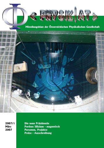 Physik iN ÖstErrEich - Austrian Physical Society