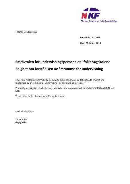 L 02-2013 Protokoll om årsramme for undervisning - NKF