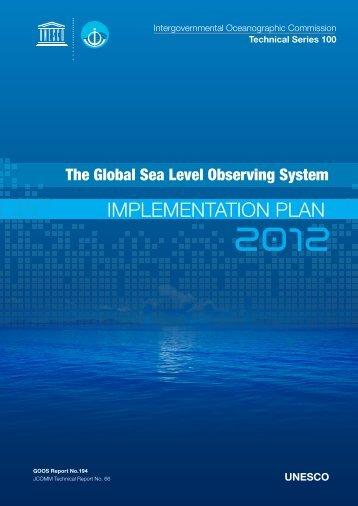 ImplementatIon plan - Global Sea Level Observing System