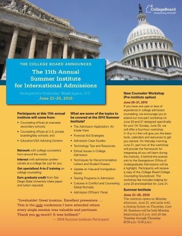 The 11th Annual Summer Institute for International ... - College Board