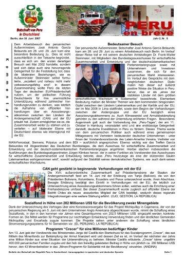 Bulletin 2.Jahr / Nr.8 - Botschaft der Republik Peru