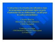 Présentation - CSSS de Bordeaux-Cartierville - Saint-Laurent